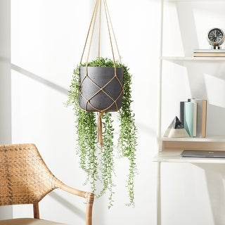 "Link to Safavieh Outdoor Peltria Planter - 9.8"" W x 9.8"" L x 9.4"" H Similar Items in Planters, Hangers & Stands"