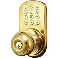 Morning Industry Inc Hkk-01P Touchpad Electronic Doorknob (Polished Brass)