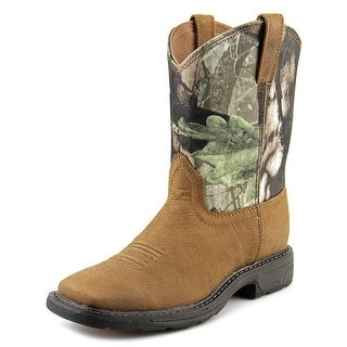 Ariat Workhog Wide Square Toe Youth Youth Square Toe Leather Brown Boot