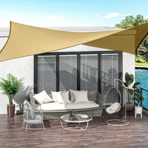 Outsunny 20' x 13' Outdoor Patio Rectangle Sun Shade Canopy
