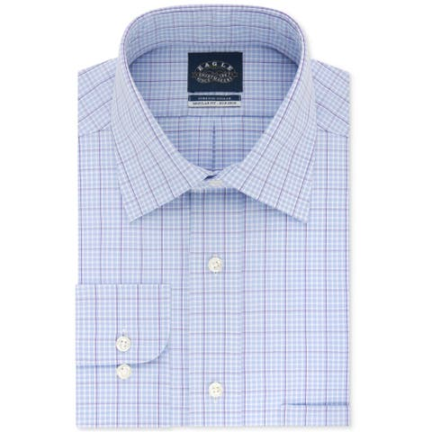 "Eagle Mens Stretch Collar Button Up Dress Shirt, purple, 17.5"" Neck 34""-35"" Sleeve - 17.5"" Neck 34""-35"" Sleeve"