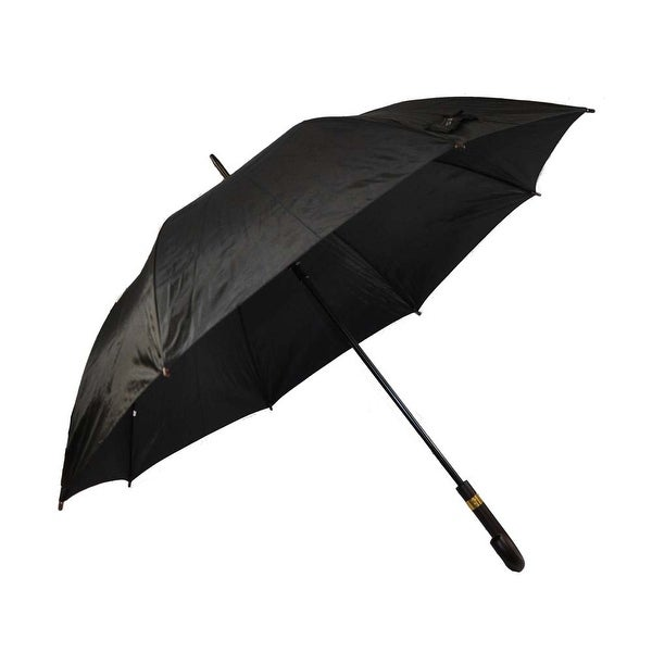 Rain Pro Black Oversized Umbrella with Real Wood Automatic Handle