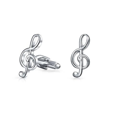 Musician G Clef Treble Music Note Cufflinks Stainless Steel