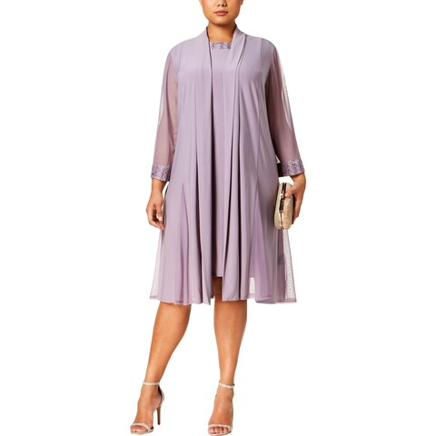 R&M Richards Womens Plus Dress With Jacket 2PC Embellished - 22W