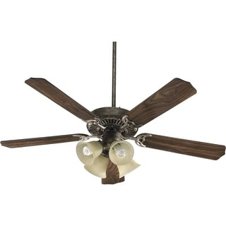"Quorum International 77525-8358 52"" 5 Blade 4 Light Ceiling Fan - Light and Blades Included from the Capri Collection"