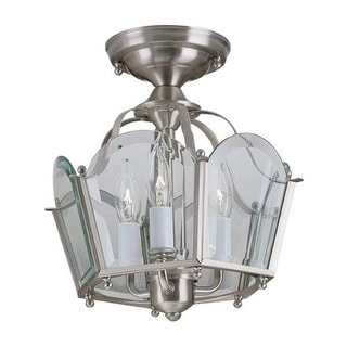 """Norwell Lighting 5870/6270 Legacy Convertible 3 Light 11"""" Wide Flush Mount Ceiling Fixture with Clear Glass Shade"""