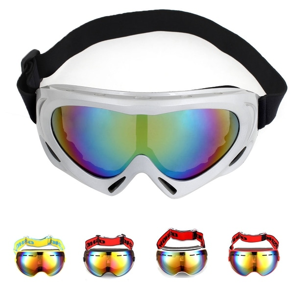 fdb8979dd593 Shop Unique Bargains Winter Sports Snowboard Ski Goggles Windproof Anti-UV Snow  Glasses for Men Women - On Sale - Free Shipping On Orders Over  45 ...
