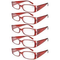 Eyekepper Spring Hinge Reading Glasses Readers Women Red +2.5