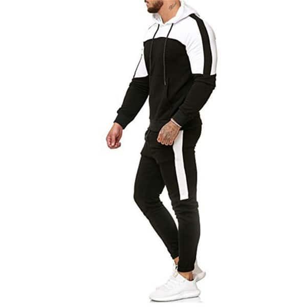 Men Full Tracksuit Set Hoody Hoodie Top Bottoms Jogging Gym Suit fatos de treino