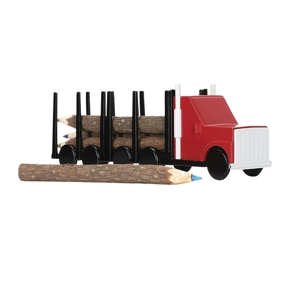 NPW-USA Log Color Pencil Truck Set, 6-Count - 8 in.