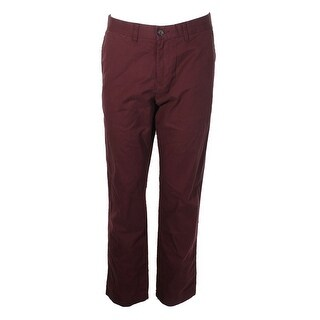 Tommy Hilfiger Wine Straight-Fit Chinos - 34
