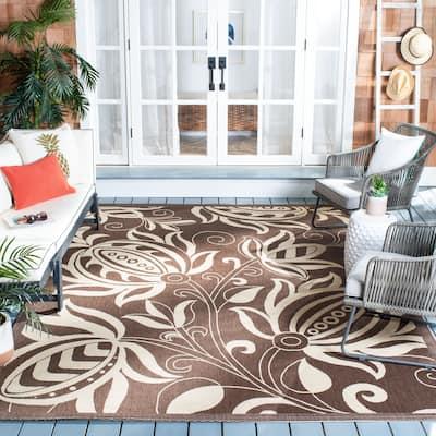 SAFAVIEH Courtyard Leatrice Indoor/ Outdoor Patio Backyard Rug
