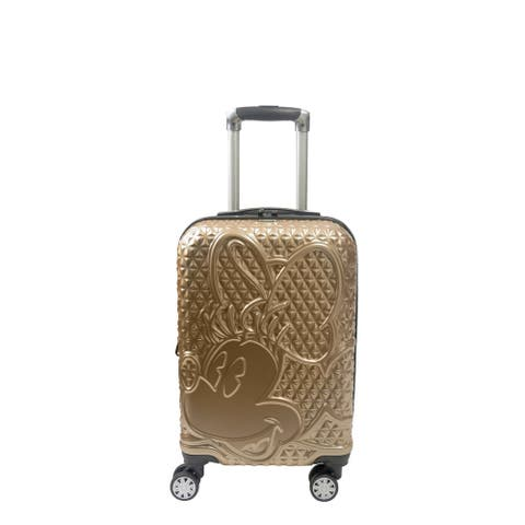 Disney Ful Textured Minnie Mouse 21in Hard Sided Rolling Luggage, Gold
