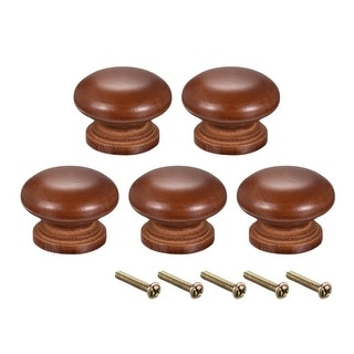 Round Pull Knob Handle 35mm Dia Cabinet Furniture Bedroom Kitchen Drawer 5pcs - 35mmx25mm(D*H)-5pcs