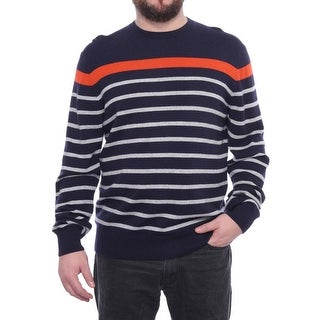 C/89Men Long Sleeve Crew Neck Sweater Men Regular Sweater Top