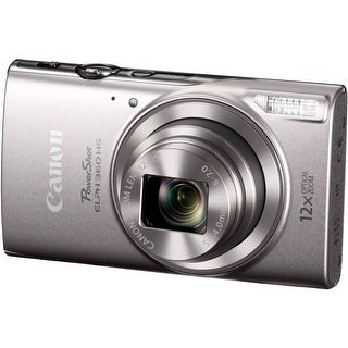 Canon PowerShot ELPH 360 HS 20.2 MP Digital Camera (Silver)