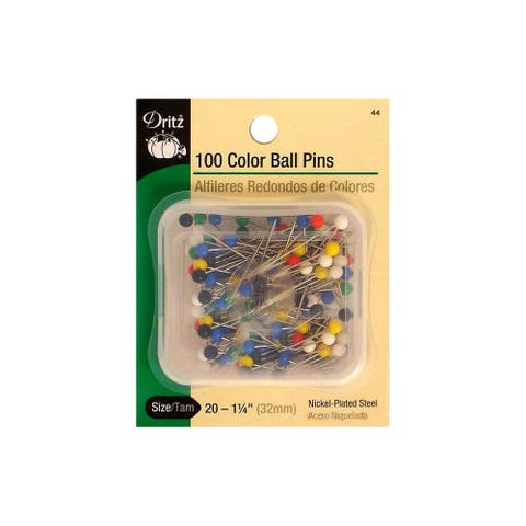 Dritz Pins Large Color Ball Size 20 Steel 100pc