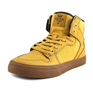 Supra Vaider Round Toe Leather Sneakers