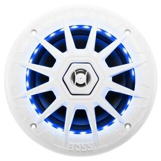"""Boss MRGB65 Boss Audio MRGB65 Marine 6.5"" 2-way 200-watt Full Range Speakers with Multicolor Illumination Options - 70 Hz"
