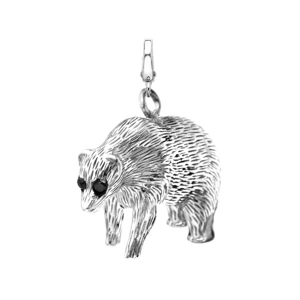 Manhattan Collection: Wall Street Bear Charm in 14K White Gold