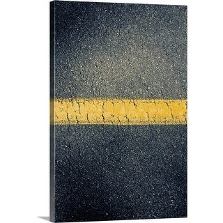 """High angle view of stripe in road"" Canvas Wall Art"