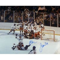 Mike Eruzione  Jim Craig Autographed 1980 USA Miracle on Ice 16x20 JSA