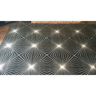 Carolina Weavers Finesse Collection Floweret Grey Area Rug (7'10 x 10'10)