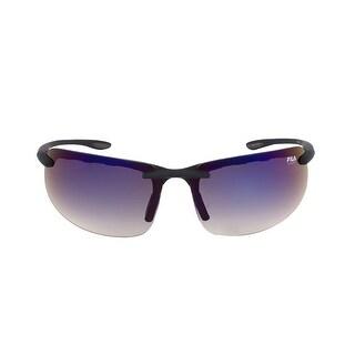 Fila FAC1042 024 Matte Black Rimless Sunglasses with Blue Tinted lenses