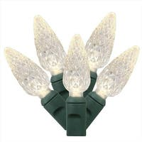 Set Of 50 Warm White Commercial Grade LED C6 Christmas Lights -