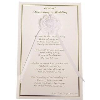 Little Things Mean A Lot White Girls White Christening Wedding Bracelet