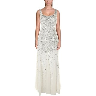 Adrianna Papell Womens Embellished Prom Evening Dress - 4