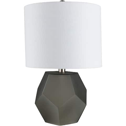 "Otsu 17 in. Charcoal Modern Table Lamp - 17"" H"