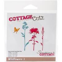 """Cottagecutz Die-Wildflowers 1, 0.8"""" To 3.2"""""""