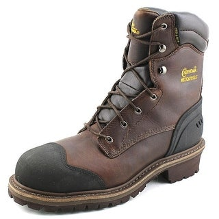 "Chippewa 8"" Waterproof Comp Toe Insulated Logger Men XW Brown Work Boot"
