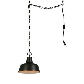 """Design House 579319 Mason 1-Light 10-3/8"""" Wide Instant Pendant with Plug in Cord - Oil Rubbed bronze - n/a"""