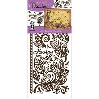 Dazzles Stickers-Zen Leaves-Brown