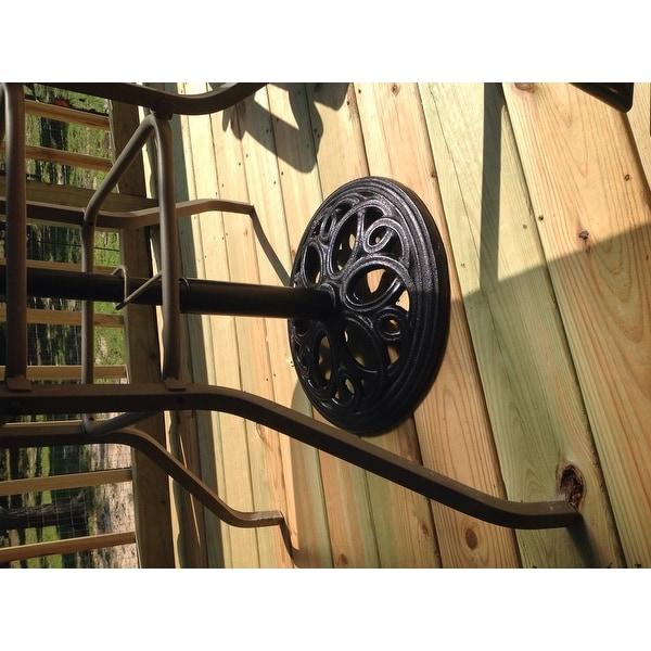 5f3c7d2cabae Shop Sunnydaze Heavy-Duty Cast Iron Outdoor Patio Umbrella Base ...