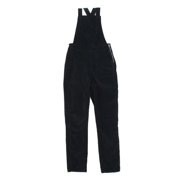 15dfafeafe9 Madewell NEW Black Women  x27 s Size XS Velvet Overalls Stretch Pants