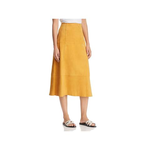 Elizabeth and James Womens Ryker A-Line Skirt Suede Midi - 2