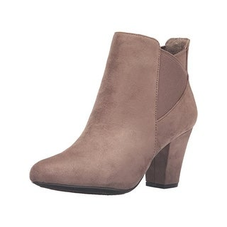BCBGeneration Womens Dolan Ankle Boots Faux Suede Heel