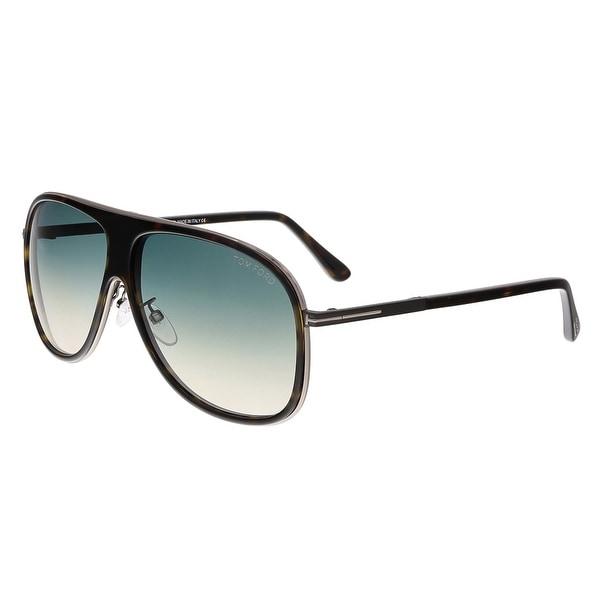 Tom Ford FT0462-F 56P CHRIS Dark Havana Aviator Sunglasses - dark havana