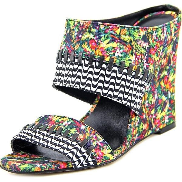 Nicole Miller Orlando Women Open Toe Canvas Wedge Sandal