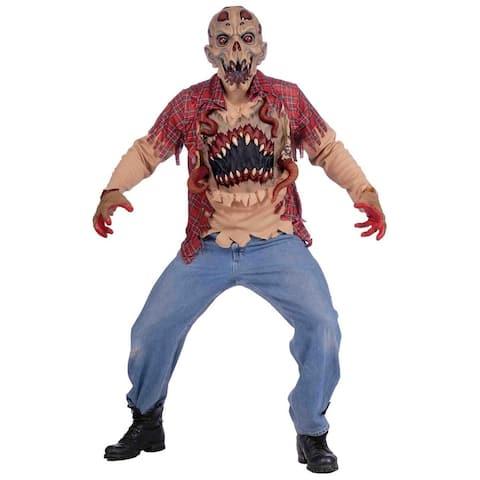 Alien Abduction Adult Male Horror Costume - Tan