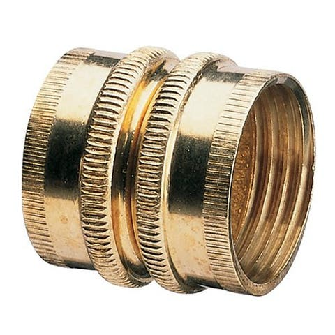 """Nelson 50574 Brass Pipe and Hose Fitting with Dual Female Swivel, 3/4"""""""