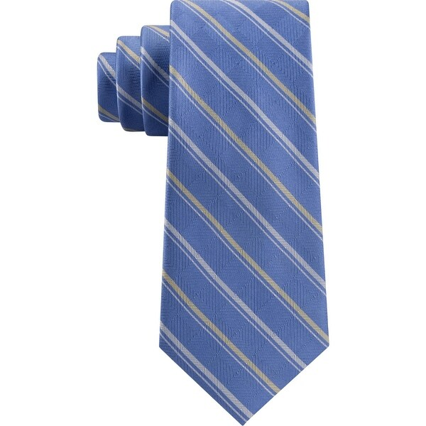 Michael Kors Mens Neck Tie Silk Professional - Blue - O/S. Opens flyout.