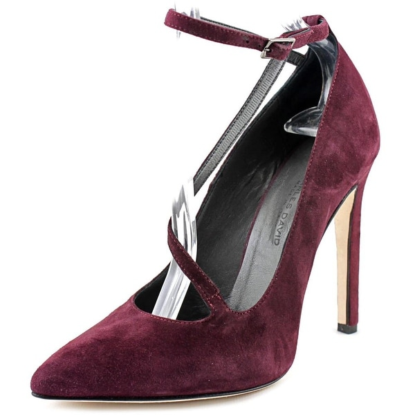 Charles David Jenifer Pointed Toe Suede Heels