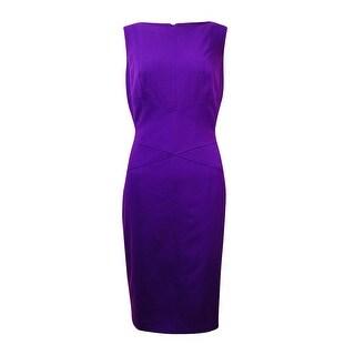 Lauren Ralph Lauren Women's Seamed Solid Sheath Dress