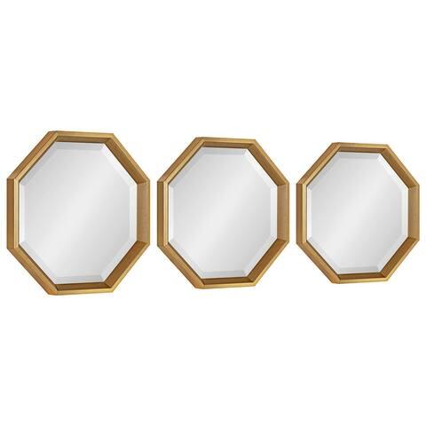 Kate and Laurel Calter Octagon Framed Mirror Set