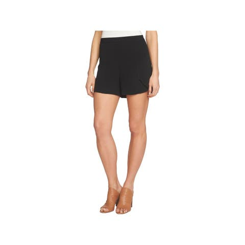 1.State Womens Casual Shorts Crepe High Waist