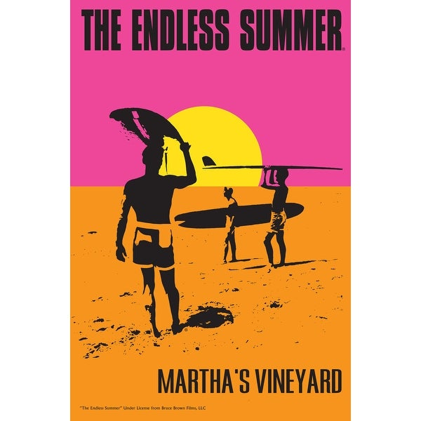 Marthas Vineyard MA Endless Summer Movie Poster (100% Cotton Towel Absorbent)